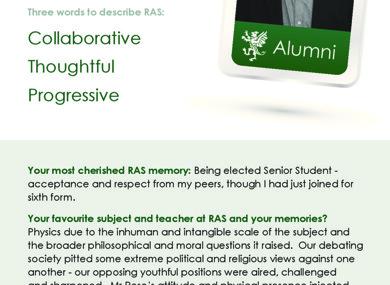 Ra alumni displayboard fergus feilden